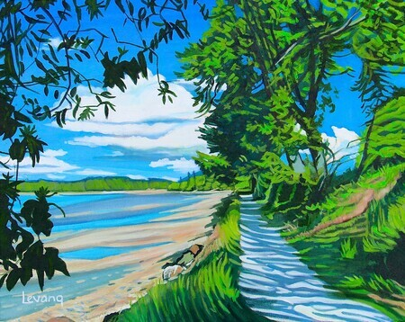 Along Scoter Trail - 16x20