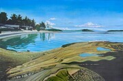 Morning At Poul's Beach - 24x36